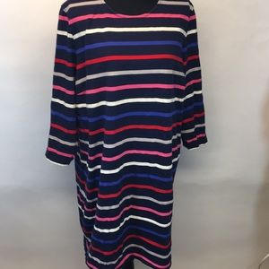 Striped jersey dress.   XXL.  Fun and funky !